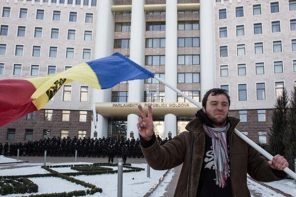 Акция протеста в Молдавии. Архивное фото - Sputnik Абхазия