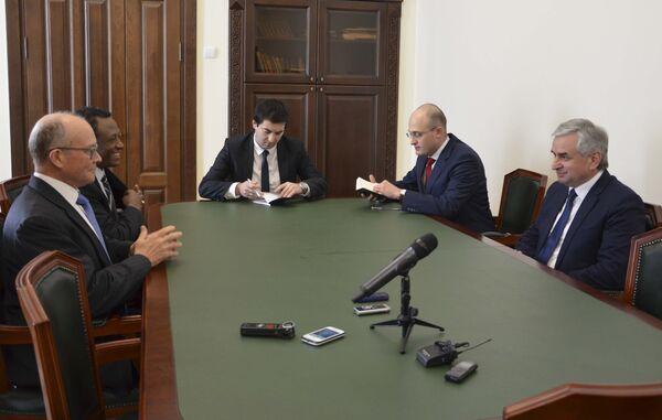 Встреча президента с сопредседателями женевских дискуссий. - Sputnik Абхазия