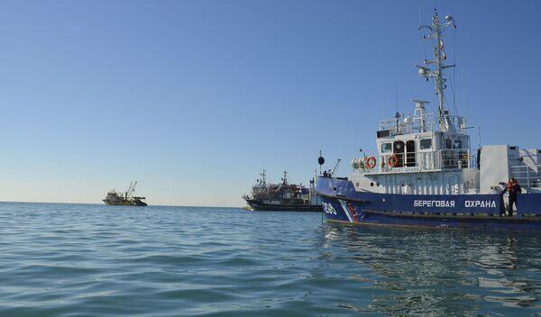 Рейд в акватории Абхазии. Фото с места события. - Sputnik Абхазия