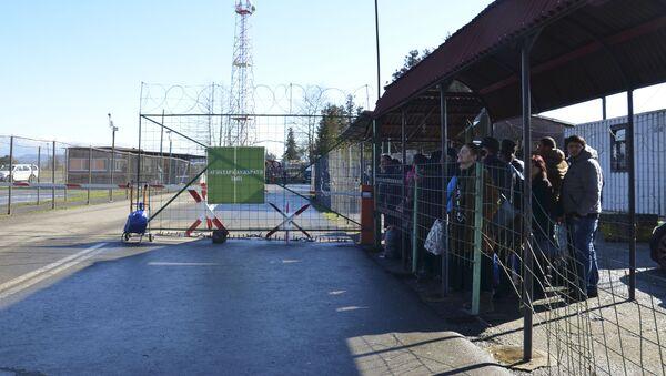 Архивное фото пограничного пункта Ингур в Галском районе - Sputnik Аҧсны