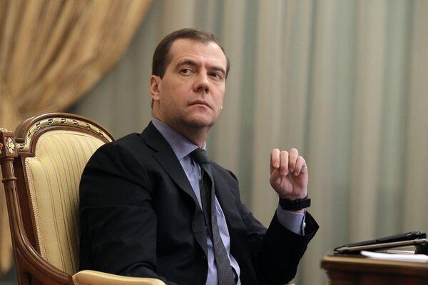 Премьер-министр РФ Дмитрий Медведев. Архивное фото - Sputnik Абхазия