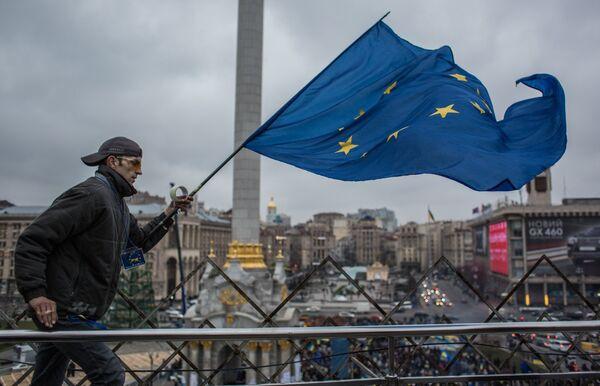 Акция в поддержку евроинтеграции Украины на площади Независимости в Киеве. Архивное фото - Sputnik Абхазия