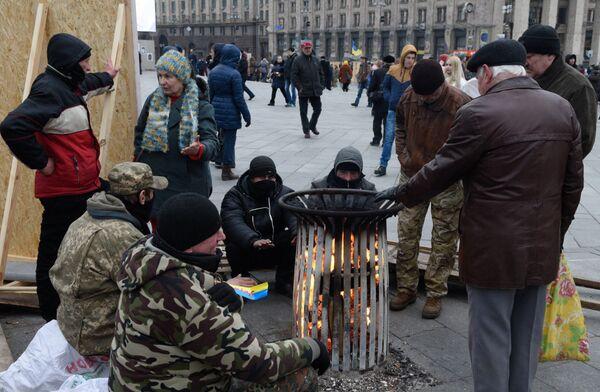 Народное вече радикалов на Майдане Незалежности в Киеве. Архивное фото - Sputnik Абхазия