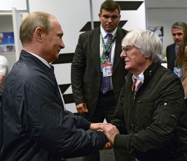 Президент РФ В.Путин посетил Гран-при России гонок Формула-1 в Сочи. Архивное фото - Sputnik Абхазия