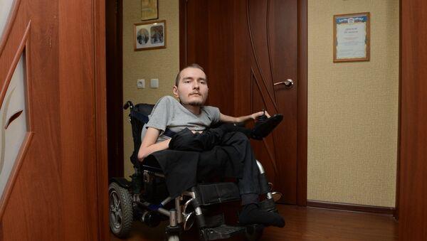 Россиянин В. Спиридонов, согласившийся на первую в мире операцию по пересадке головы. Архивное фото - Sputnik Абхазия