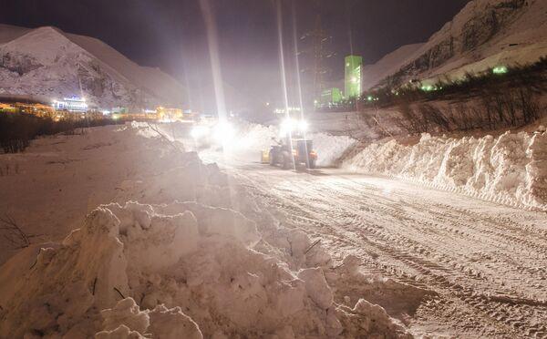 Сход лавины в Мурманской области. Архивное фото. - Sputnik Абхазия