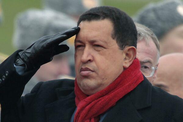 Прилет президента Венесуэлы Уго Чавеса. Архивное фото. - Sputnik Абхазия