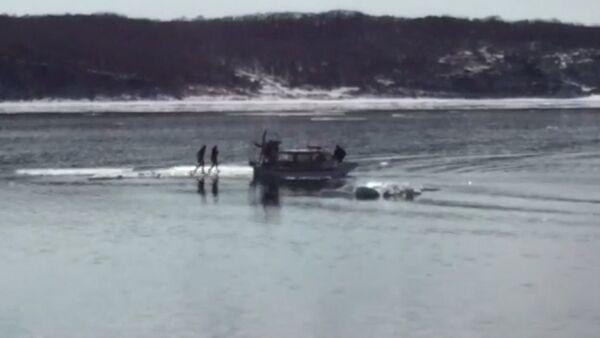 СПУТНИК_Спасатели на катере забрали с дрейфующей льдины двух любительниц селфи - Sputnik Абхазия