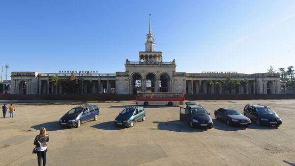 Архивное фото Сухумского вокзала - Sputnik Абхазия