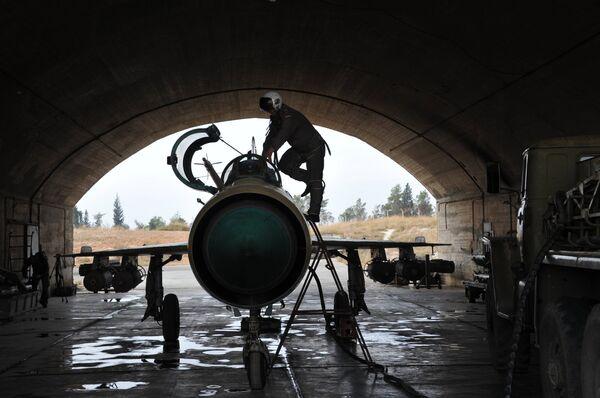Военная авиабаза Хама в Сирии. Архивное фото. - Sputnik Абхазия
