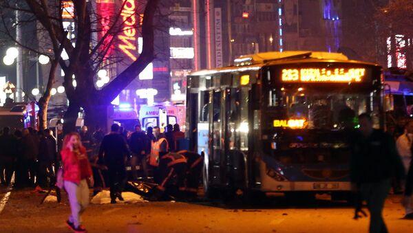 На месте взрыва в Анкаре. - Sputnik Абхазия