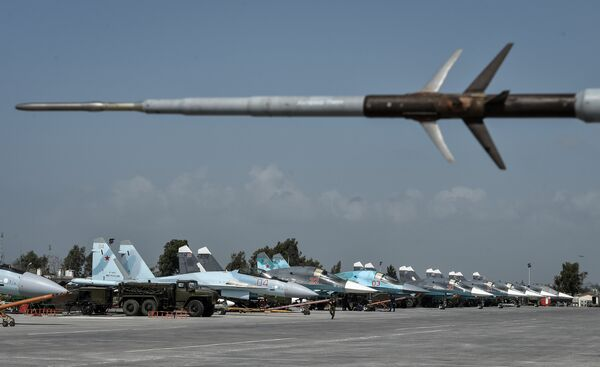 Авиабаза Хмеймим в Сирии - Sputnik Абхазия