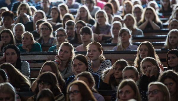Студенты во время лекции.  Архивное фото. - Sputnik Абхазия
