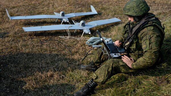 Малый беспилотный летательный аппарат комплекса Застава. Архивное фото - Sputnik Абхазия