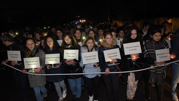 Акция 222 свечи. - Sputnik Абхазия