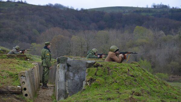 Учение резервистов на полигоне Цабал. - Sputnik Абхазия
