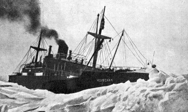 Пароход Челюскин в тяжелых льдах. - Sputnik Абхазия