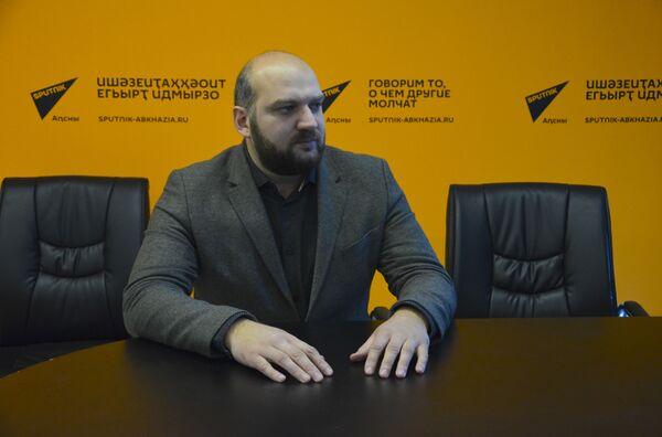 Председатель ассоциации предпринимателей Абхазии Роман Качарава - Sputnik Абхазия