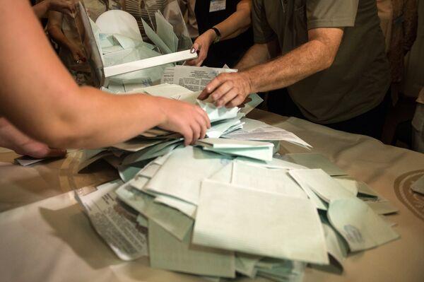 Подсчет голосов по итогам выборов президента Абхазии - Sputnik Абхазия