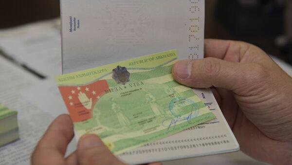 Абхазская виза. - Sputnik Абхазия