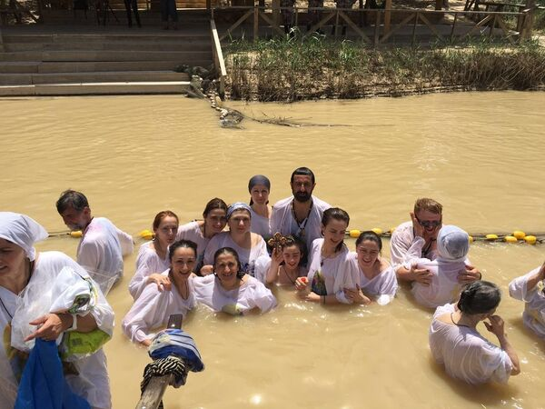 Паломники из Абхазии на реке Иордан - Sputnik Абхазия