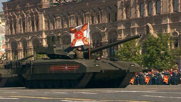 Танк Т-14 Армата и другая военная техника на параде Победы в Москве - Sputnik Абхазия