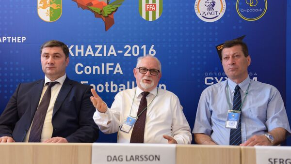 Аԥсныҟа ConIFA ачемпионат ахь иааз, апресс-конференциа мҩаԥыргеит. - Sputnik Аҧсны