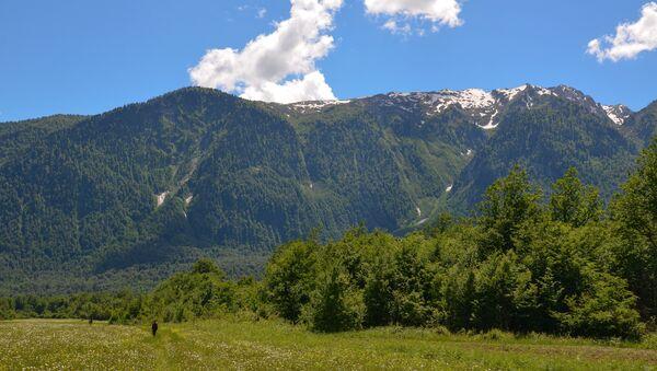 Пейзаж в высокогорном селе Псху - Sputnik Аҧсны