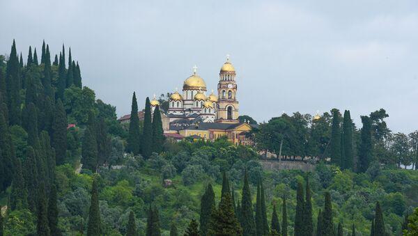 Вид на новоафонский монастырь - Sputnik Абхазия