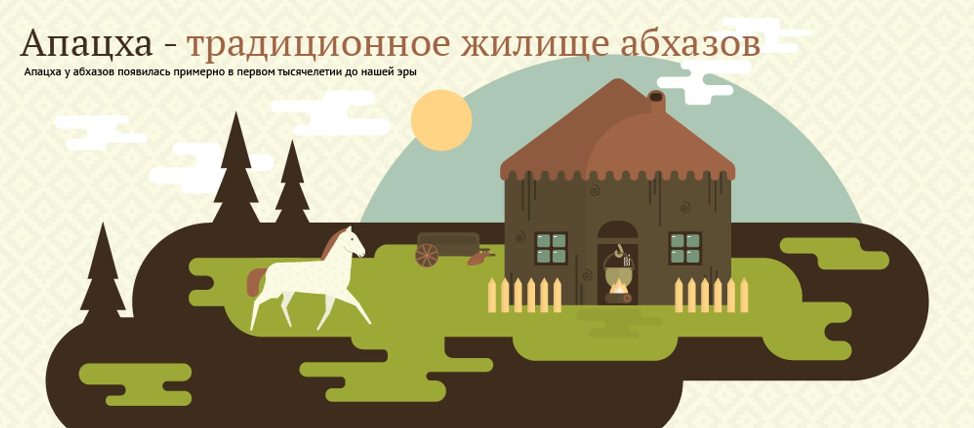 Апацха - традиционное жилище абхазов - Sputnik Абхазия, 1920, 29.06.2016