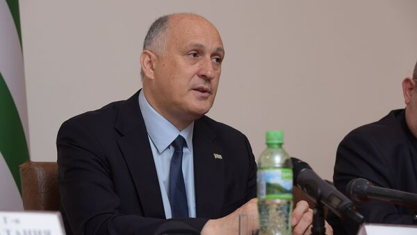 Вячеслав Чирикба на пресс-конференции в МИДе. - Sputnik Абхазия