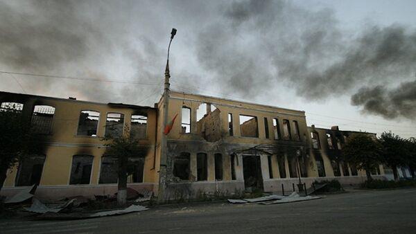 Последствия войны в Южной Осетии в августе 2008 года. Архивное фото - Sputnik Абхазия