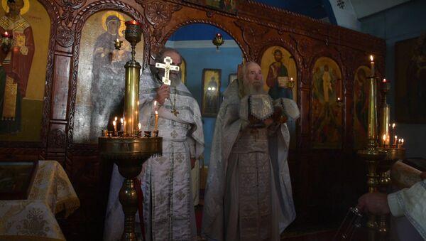 Православные Абхазии провели праздничную службу в день Преображения Господня - Sputnik Абхазия