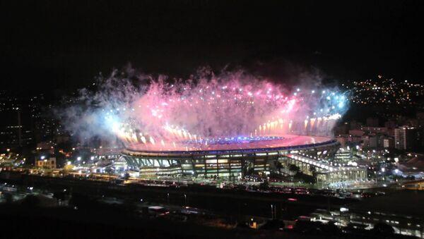 Праздничный салют в честь закрытия Олимпийских игр в Рио-де-Жанейро - Sputnik Абхазия