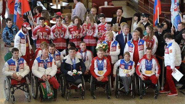 Встреча медалистов Паралимпийских игр в Москве - Sputnik Абхазия