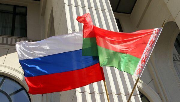 Государственные флаги России и Белоруссии. Архивное фото - Sputnik Абхазия