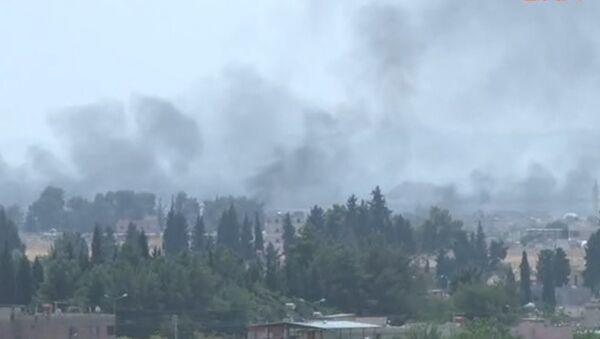 Операция Турции в Сирии: транспортные средства на границе и авиаудары - Sputnik Абхазия