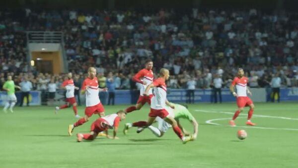 Кадры встречи Абхазии с киприотами в полуфинале ЧМ по футболу ConIFA - Sputnik Абхазия