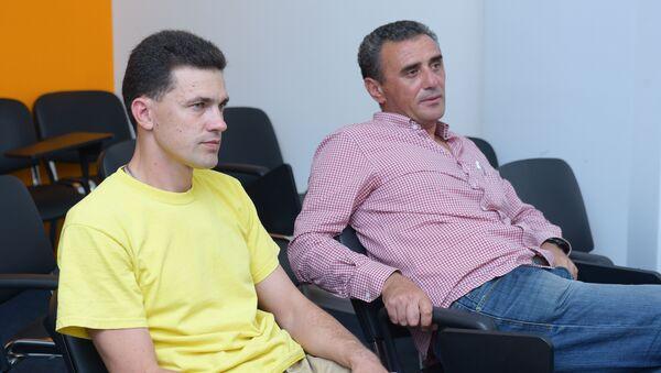 Сергей Никитченко и Роин Агрба - Sputnik Абхазия