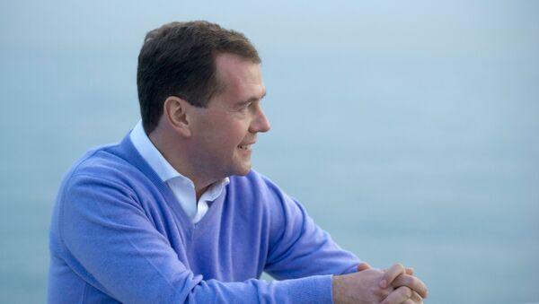 Дмитрий Медведев в сочинской резиденции Бочаров ручей. - Sputnik Абхазия