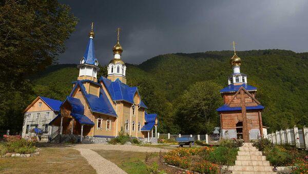Храм Иоанна Крестителя в селе Псху - Sputnik Абхазия