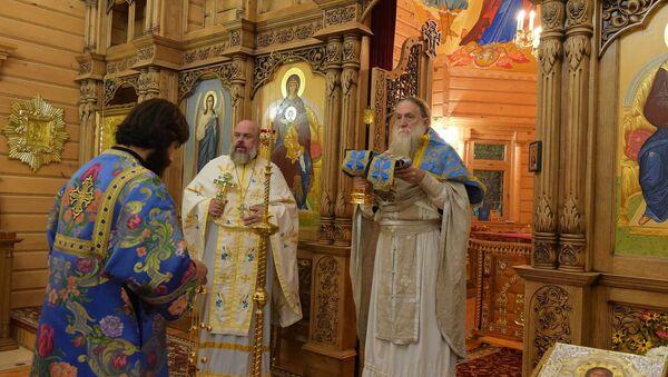 Храм Иоанна Крестителя в с. Псху. - Sputnik Абхазия