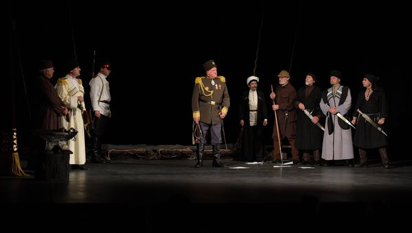 Премьера спектакля Махаджиры в Абхазском драмтеатре - Sputnik Абхазия