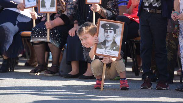 Бессмертный полк в честь Дня Победы в Сухуме - Sputnik Абхазия