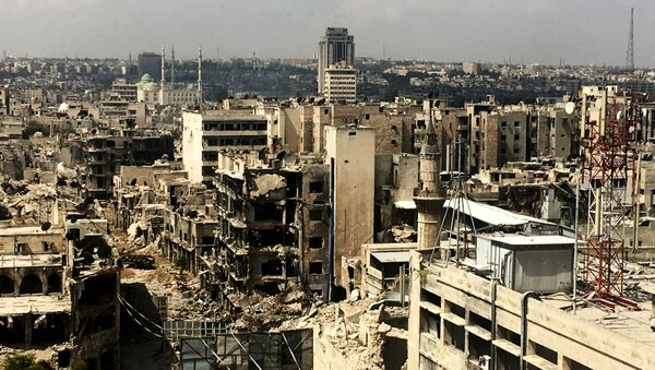 Архивное фото разрушенного города Алеппо - Sputnik Абхазия