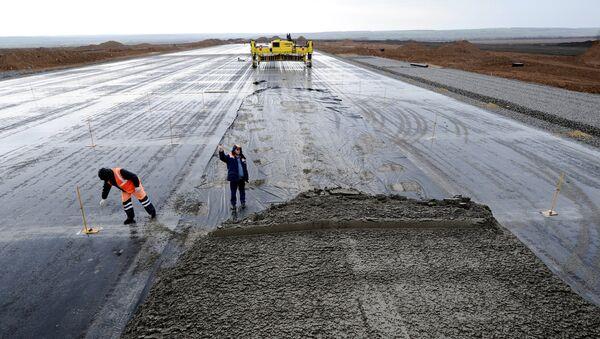Архивное фото строительства нового аэропорта - Sputnik Абхазия