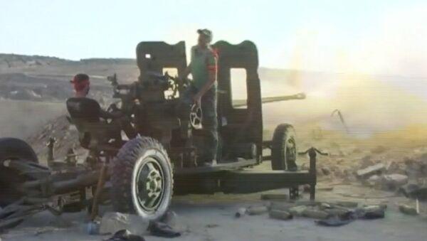 Сирийские военные из зенитных орудий обстреляли позиции боевиков в Алеппо - Sputnik Абхазия