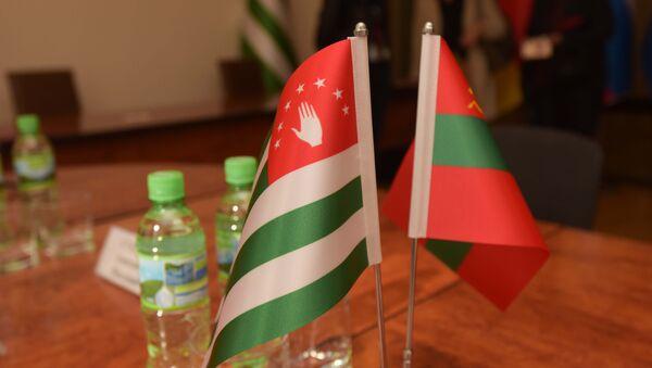 Флаги Абхазии и ПМР - Sputnik Абхазия