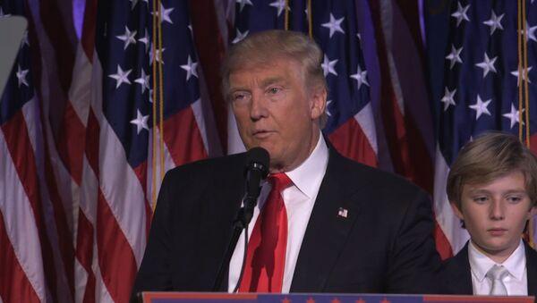 Первая речь избранного президента США Дональда Трампа после победы на выборах - Sputnik Абхазия