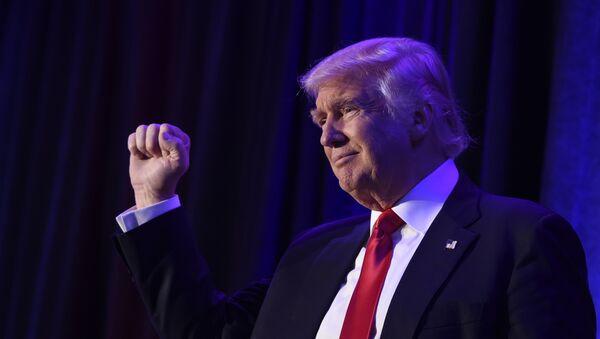 Избранный президент США Дональд Трамп в Нью-Йорке 8 ноября 2016 года - Sputnik Абхазия
